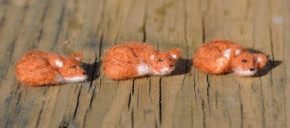Miniature Needle Felted fox
