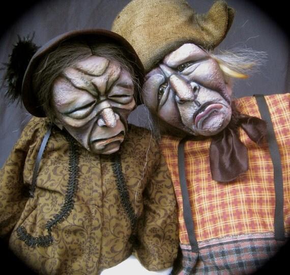Mr. & Mrs. Roscoe Purkapile, puppets by theatreFigüren