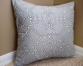 Reserved Listing - Set of 2 16x16 Geometic Pillow Covers- Grey & White