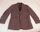 Reserved for MAMACHUNG only - Men's Tweed (Herringbone) Professor Jacket, brown, 42R