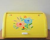 Yellow Ransburg Breadbox, 1950's