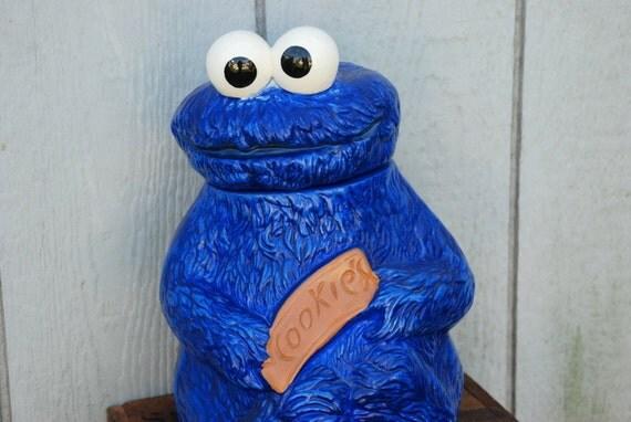 Original Muppets 1970 Cookie Monster Cookie Jar