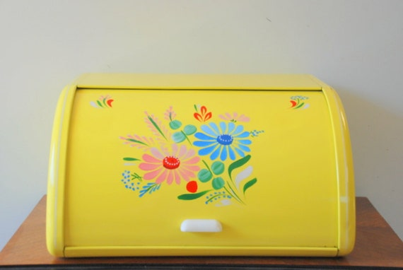 Yellow Ransburg Breadbox, 1950's