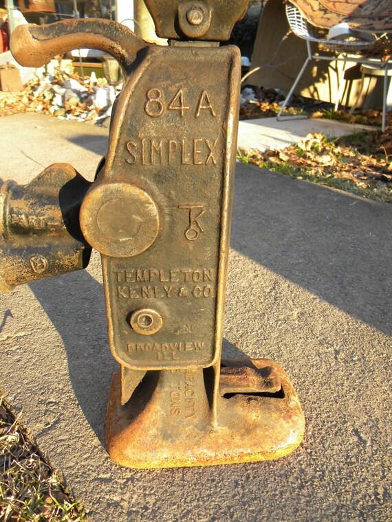nice vintage antique iron SIMPLEX 5 ton 84 a house RAILROAD JACK