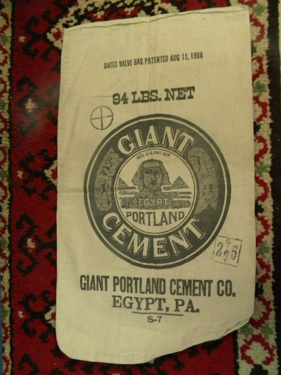 Portland Cement Bags : Nice vintage advertising egypt pa giant portland by score
