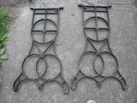 vintage art deco iron MACHINE INDUSTRIAL AGE iron table legs steampunk