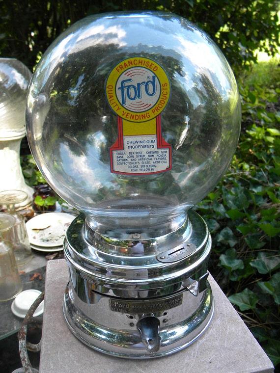 antique ford gumball machine