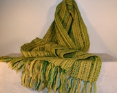 Handwoven Scarf - Lime Green Scarf