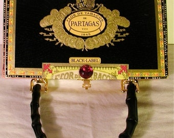 Cigar Box Purse: Black Tie Affair