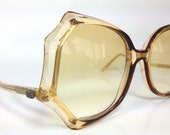 Vintage 1980s Funky Big Spider Web Shape Sunglasses