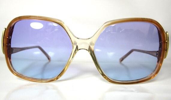 Vintage 1980s Bold Statement Design Frame Sunglasses
