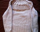 Cable yoke sweater