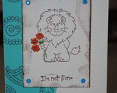 Handcrafted Lion Friendship, Love Card