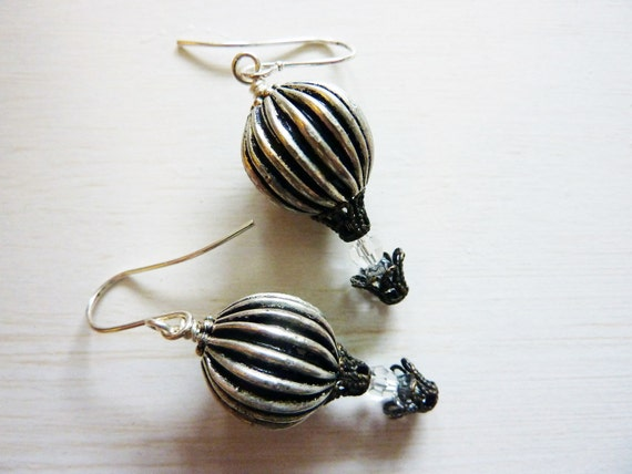 Up Up and Away Hot Air Balloon Earrings - Cute Unique Hot Air Balloon Jewelry by Weirdly Cute jewelry