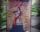 Primitive Label Americana Fourth of July Tin Can Soy Candle-CPLG, ab4b, wrr, ootbs, OFG,STCOFG, teametsyfolk