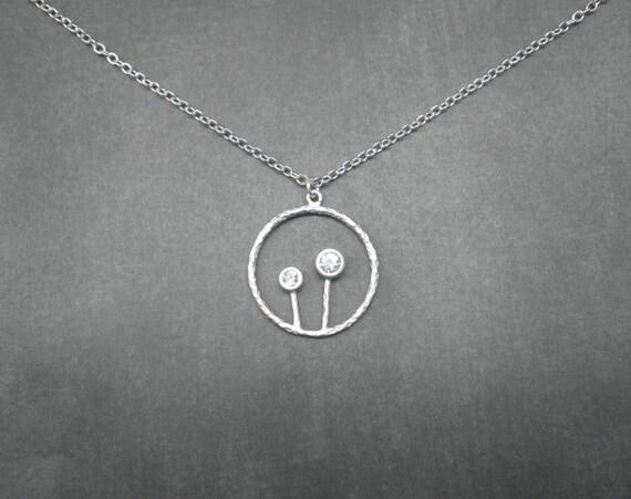 Dandelion Necklace  --  Silver Necklace