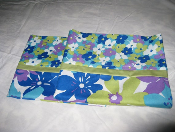 Floral Pillow Cases with French Seams