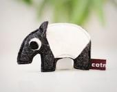 Helmut the little tapir - brooch