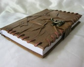 handmade blank leather journal notebook