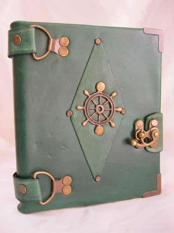 Items similar to handmade blank leather journal notebook ...