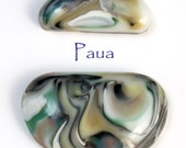 Handcrafted Glass Cabochon - Paua
