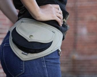 Hip Belt Bag - Fanny Pack - Utility Hip Belt  - Belt Bag - Hip Pack - HIp Bag- High Quality Pocket Belt Bag  [Festival.Travel.Concert]