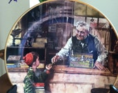 Norman Rockwell Collectibe Plate  BACK TO SCHOOL