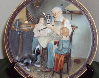 The Toy Maker Rockwell Centennial collection 3-D plate