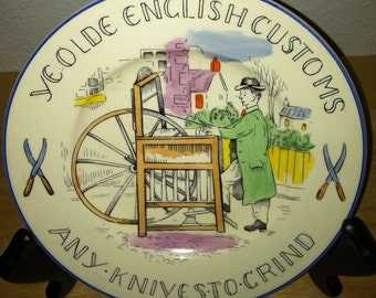 Ye Olde English Customs Plate Any Knives to Grind