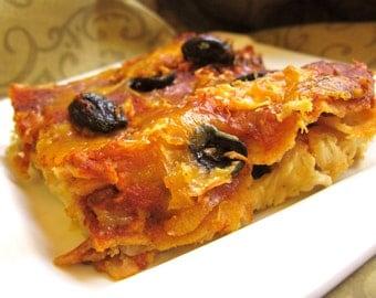 Mom's Chicken Enchiladas Lasagna Style with Homemade Sauce