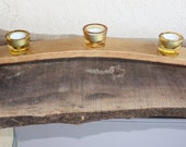 Barrel stave candle holder, ready to ship