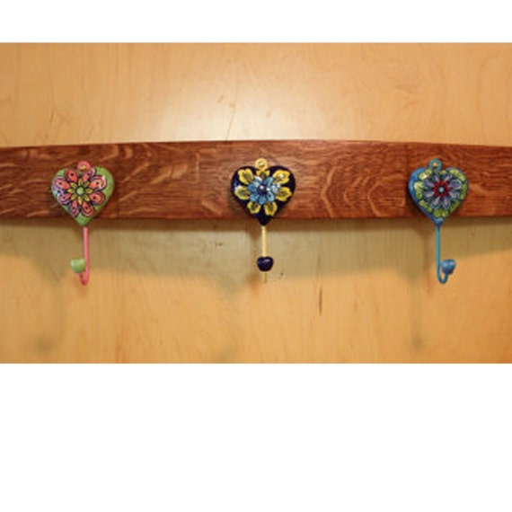 Wall mounted barrel stave coat rack, ready to ship