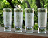 Etched Shot Glasses - Numbered 1 2 3 FLOOR