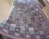 patchwork quilt  shabby chic wedding gift