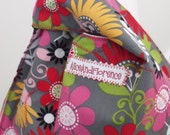 shoulder bag tote bag flowery  reversible two for one