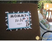 Safari Baby Shower Signs and Patterned Papers