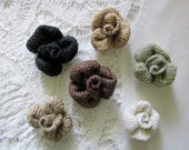 Small Burlap Flowers, you choose six