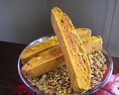 Pumpkin Spice Biscotti with Roasted Pumpkin Seeds - 6 cookies