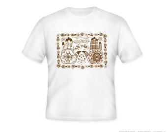 Mehndi Henna Hands Image Adult Tshirt  -- other tshirt color and personalization available - adult sizes S-3XL
