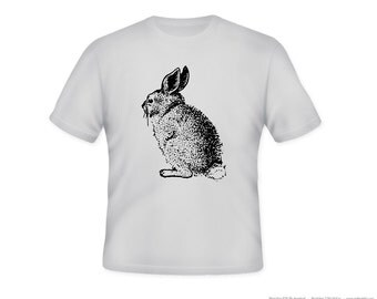Vintage Bunny Rabbit Image Tee -- personalization available - adult sizes S-3xl