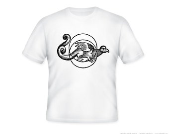 Dragon Talisman Adult Tshirt  -- other tshirt color and personalization available - adult sizes S-3XL
