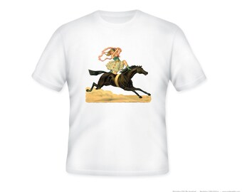 Awesome Circus Girl image on Adult Tshirt -- other tshirt color and personalization available - adult sizes S-3X