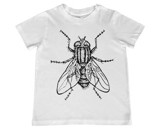 Awesome Vintage House Fly Drawing,  t-shirt color, personalization available - youth sizes xs, s, m, l, xl