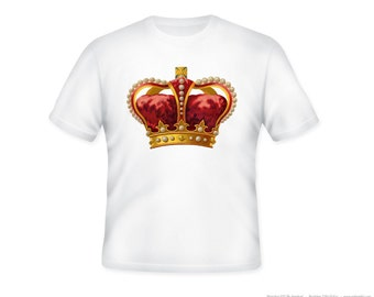 Regal Ornate Crown Adult Tshirt  -- sizes S-5XL, personalization available