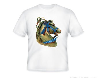 Gorgeous Vintage Horse Head Profile Adult Tshirt - Sizes S-5XL