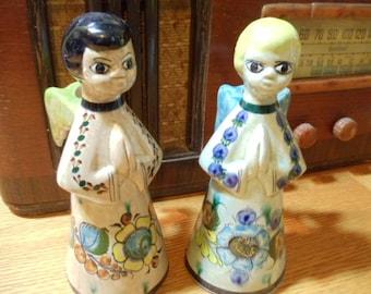 Pair of Tonala Ceramic Angle Candle Holders