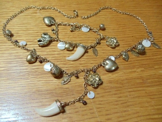 Charm Style Necklace and Bracelet Set