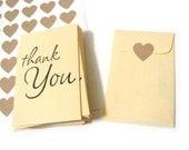 Thank You Envelopes - Manila Coin Envelopes - Business Card Size - Set of 25