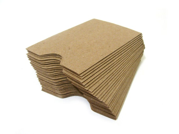 Brown Kraft Business Card Gift Card Sleeves by