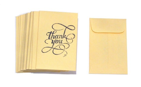 Thank You Envelopes - Manila Coin Envelopes - Business Card/Gift Card - Set of 50